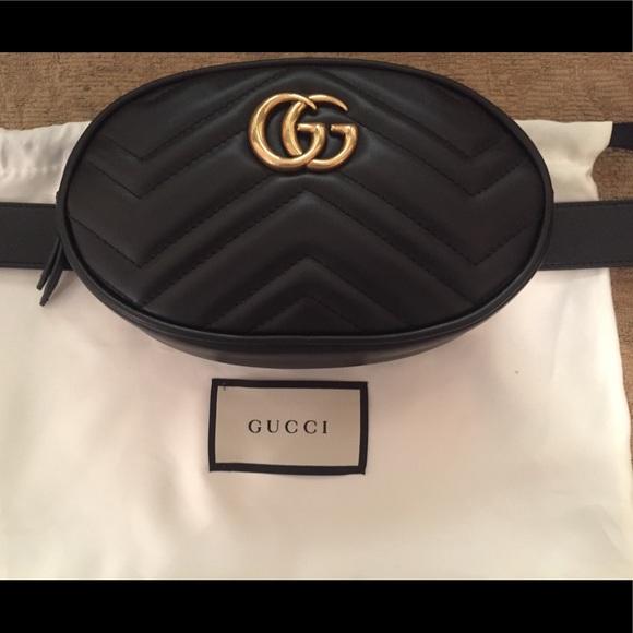 d3f77b271deaf9 Gucci Bags | Gg Marmont Maltese Leather Belt Bag | Poshmark